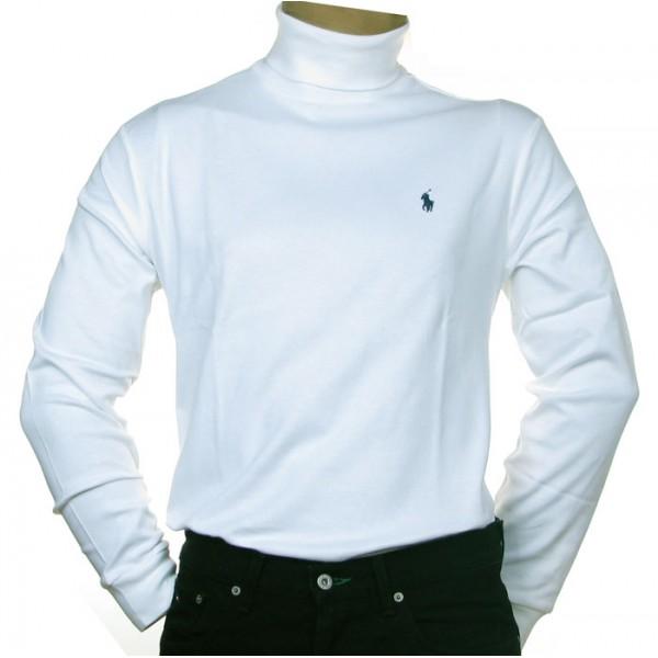 cdce820f4 Sous pull Ralph Lauren col roulé blanc homme - Carrefour des Marques