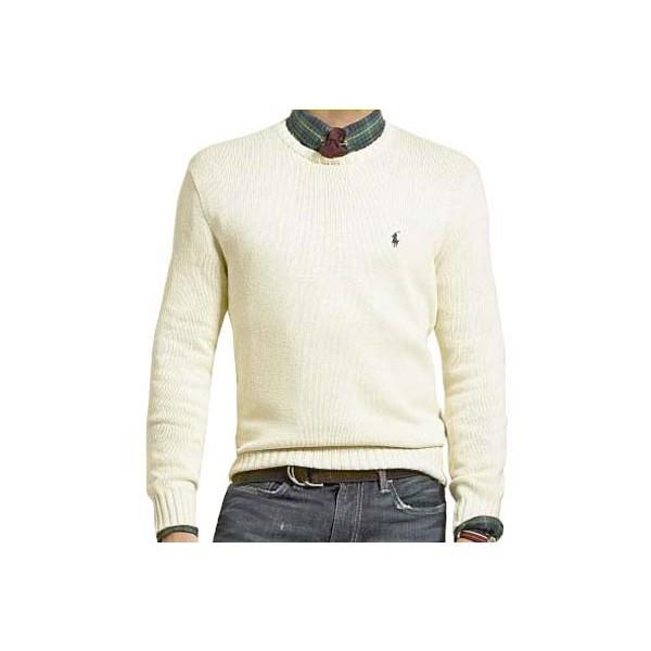 Pull Ralph Lauren Le Classique Crème homme - Carrefour des Marques 3572037859ee